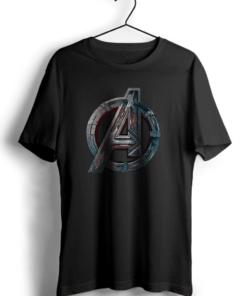 Avengers Classic Art Black Cotton T-Shirt
