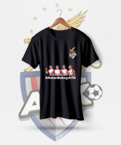 AmarBukeyATK Black Cotton T-Shirt