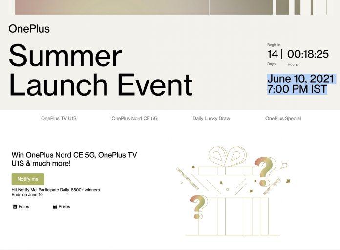 OnePlus launching OnePlus Nord CE 5G and OnePlus TV U Series U1S on June 10