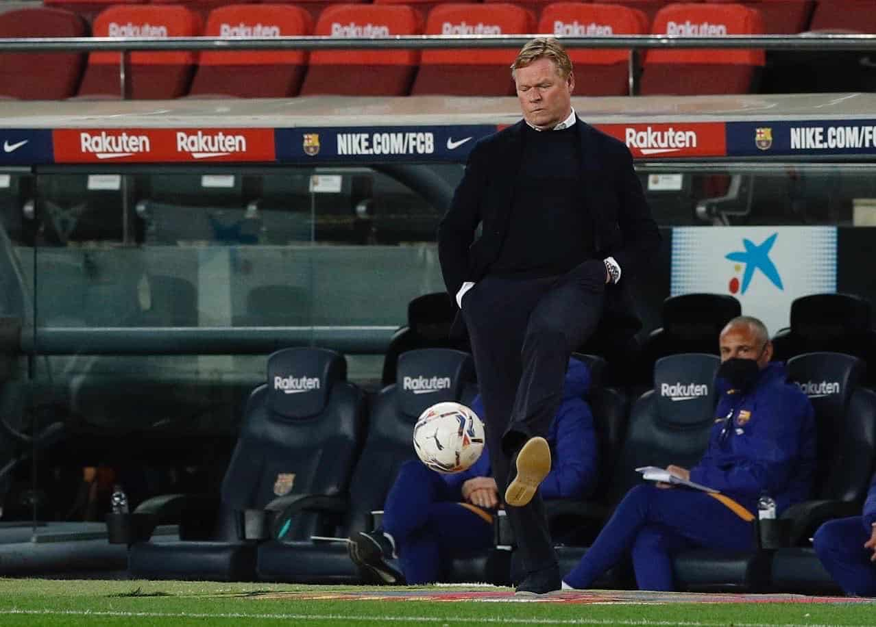 Barcelona fans show their frustration against Koeman after drawing to Levante