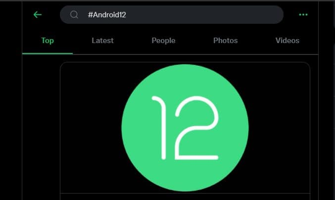 See how Twitter reacts to #Android12 I/O