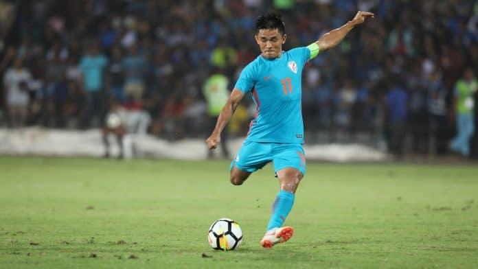 Sunil Chhetri beats Messi in the Race