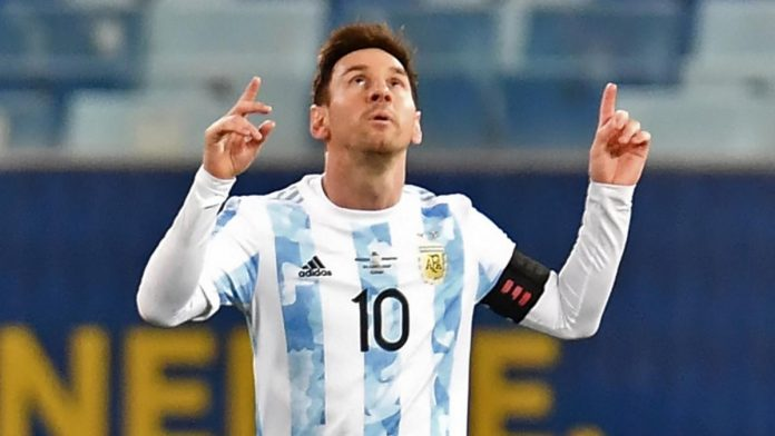 First International Trophy of Lionel Messi with Argentina