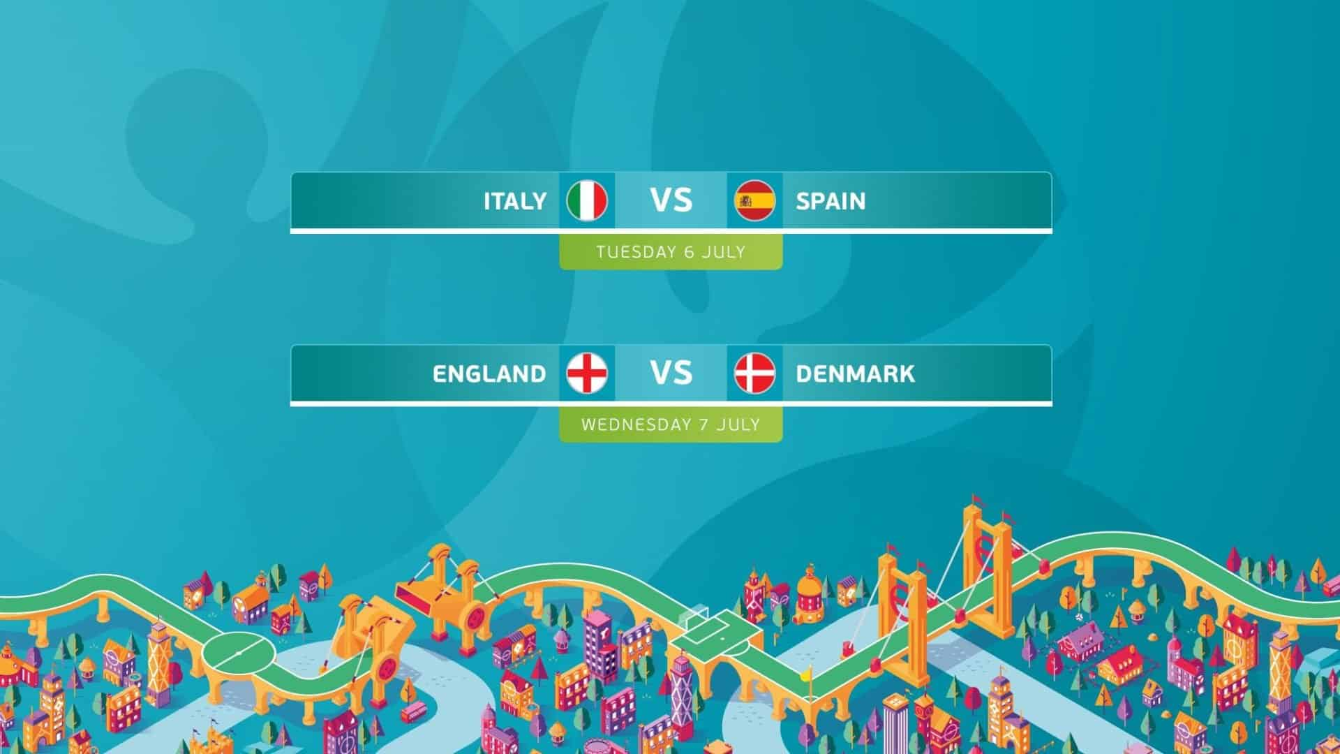 Semi-finals clashes set for EURO 2020