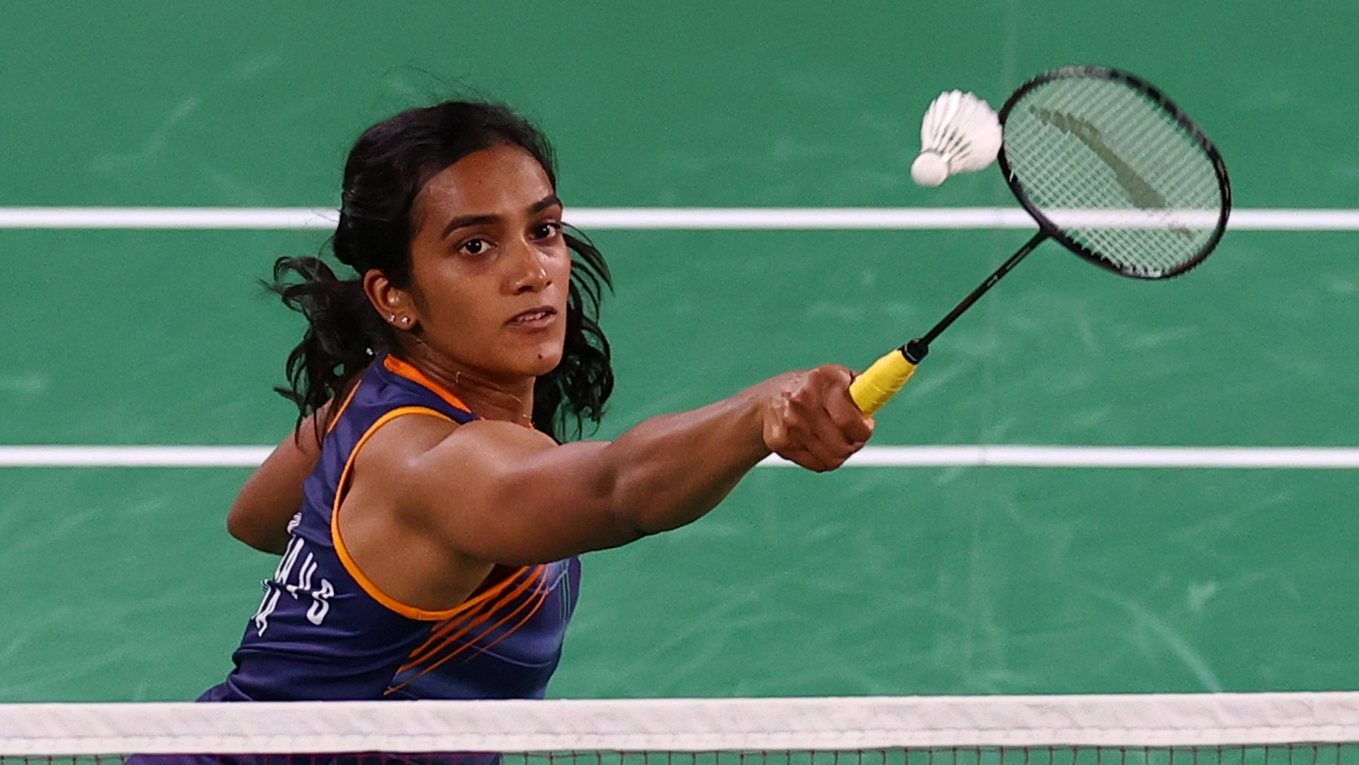 PV Sindhu wins her opening match, by defeating Polikarpova with ease!