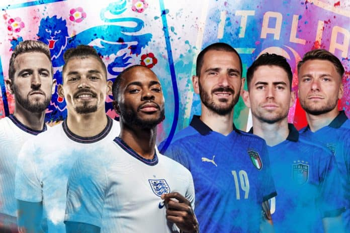 EURO 2020 Final Set between Italy and England