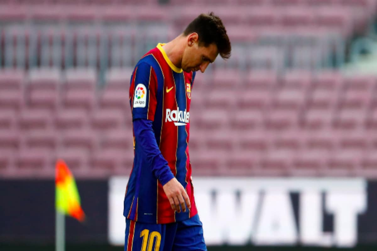 The official website of La Liga shows the Barcelona squad without Lionel Messi