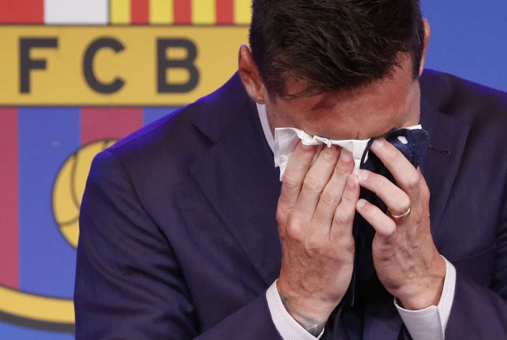 The tissue used by Messi in his farewell press conference from Barca is up for sale