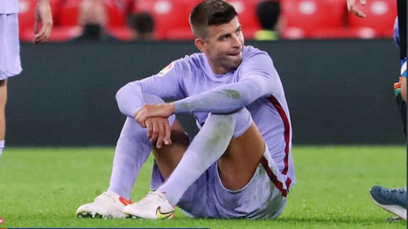 Gerard Pique suffered a calf injury during Barcelona's match with Athletic Bilbao