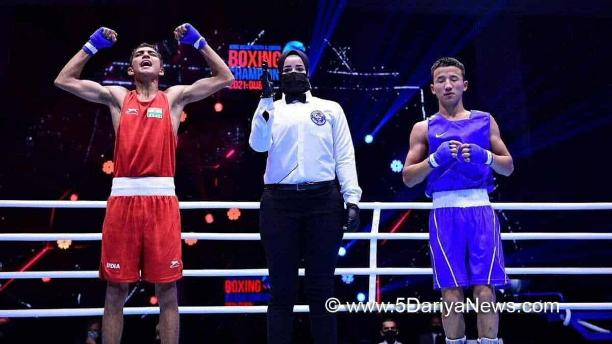 Rohit Chamoli brings the first-ever gold medal to India at the Asian Junior Boxing Championships