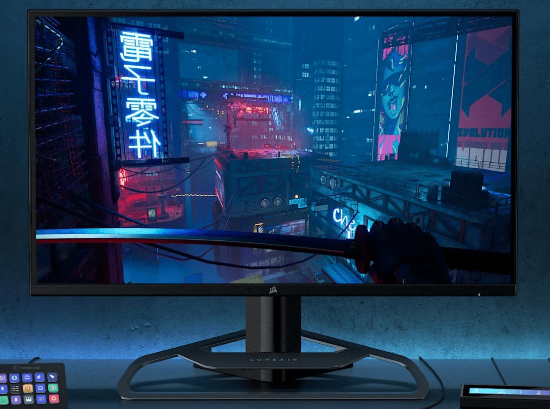 Corsair finally debuts its first-ever gaming monitor with QLED Screen
